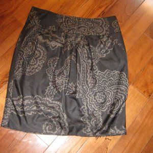 banana republic skirt size 0 black and grey lined